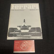 Vintage Ferrari Club France Book Magazine Brochure Rare 1975 250 GTO F1 275 Dino