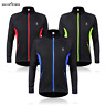 Men's Long Sleeve Cycling Jacket Thermal Fleece Windproof Full Zip MTB Bike Coat
