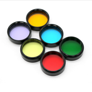 "6pcs 1.25"" Eyepiece Filters Sets Colored Planetary & Moon Telescope Filters Kit"