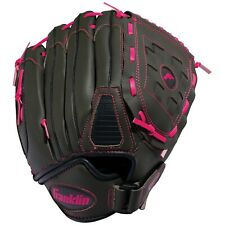 "NEW Franklin Girls Tee Ball Fielding Glove Gray and Pink 10.5""  R-Hand Thrower"