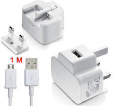 MAINS USB WALL CHARGER + DATA CABLE FOR SAMSUNG GALAXY S4 S2 S3 S5 S6NOTE 3 4 5