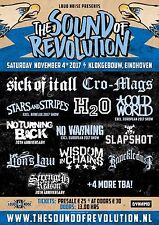 "SICK OF IT ALL/CRO-MAGS""SOUND OF REVOLUTION""2017 NETHERLANDS CONCERT TOUR POSTER"