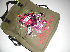 New Edition Ed Hardy Tasche Militärgrün