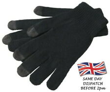 Touch Screen Gloves, One Size Stretch Fit Iphone Android Kindle Tablet Black UK