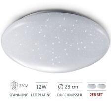 2 LED Deckenlampe Deckenleuchte Sternen-Himmel Glitzer-Lampen Licht Schlafzimmer