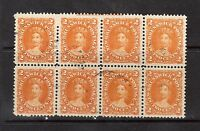 New Brunswick #7 VF Used Imprint Block Of Eight Showing Full ABN Imprint At Top