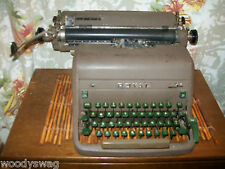 Royal Typewriter Green Keys 40s or 50s Vintage Punk Steampunk Movie prop