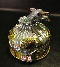 New Swarovski Crystal Dolphin trinket box