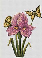 LUCA-S B224 Orchis y Mariposas Kit de Bordado contado