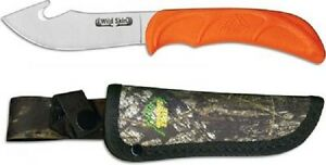 NEW OUTDOOR EDGE WS-10C WILD SKIN GUT HOOK HUNTING KNIFE WITH SHEATH SALE