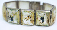Antique 1890's Persian Mother of Pearl MOP Women's for re-Painting Bracelet 7""