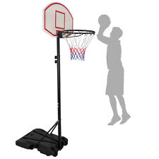 Portable Indoor Kids Youth Basketball Backboar Court Goal Hoop Adjustable Rim