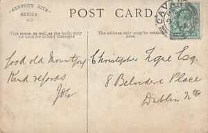 a irish roscommon Castlerea postmark 1903 on old postcard ireland collect stamp