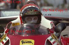 Niki Lauda Ferrari F1 1977 fotografía de retrato