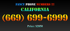 New listing Fancy Phone Numbers ! California (669) 699-699