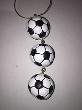 Christmas Holiday String of Soccer Ball Sports Ornament