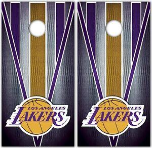 Los Angeles Lakers Custom Cornhole Boards Wrap NBA Decal Stickers Vinyl KA1170