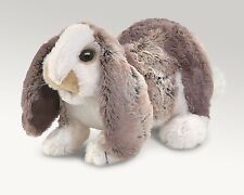Baby Lop Rabbit Puppet - Moveable Mouth & Front Paws, Folkmanis MPN 3048, 3 & Up