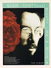 Elvis Costello - Mighty Like A Rose Original Magazine Music Ad Advert 1991