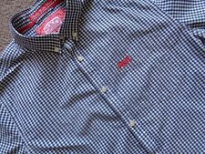 MENS SUPERDRY GINGHAM CHECK SHORT SLEEVED SHIRT. PIT TO PIT 20.MEDIUM LONDON FIT