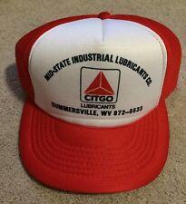 Vintage Citgo Mid-State Industrial Lubricants Trucker Snap Hat Summersville Wv