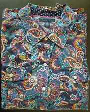 Tommy Hilfiger Top, Long-Sleeve Floral-Print Shirt, L/G