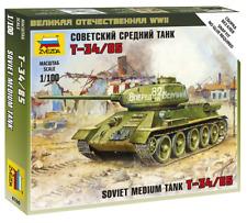 Zvezda 6160 - 1/100 wargame addon soviet t-34/85 - NEUF