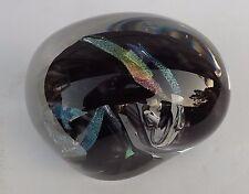 Dichroic Studio Art Glass Paperweight Sculpture Signed HUGE 4.5 LBS BIG