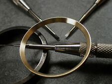 GOLD BRUSHED ST.STEEL CUSTOM CHAPTER RING FOR SKX007 7S26-0020 R-01-BG