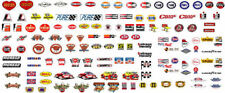 CD_CA_002 Contingency Sponsor Stickers #2 BLACK BACKGROUND  1:18 Scale DECALS