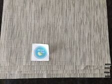 """CHILEWICH Bamboo Placemats- Chalk- Brand New  14"""" X 19"""""""