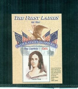 Gambia 2007 First Lady Sarah Polk Mini Sheet  MNH  Sc 3093