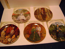 5 GONE WITH THE WIND COLLECTORS PLATES by KNOWLES w/COA's, WATCH & PIC & MORE