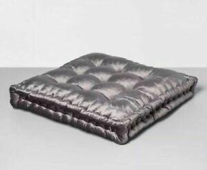 Opalhouse Velvet Oversized Square Throw Floor Pillow Tufted GRAY  Boho Bohemian