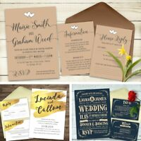 Wedding /Evening invitation Set, - RSVP cards, Poem cards and Information cards
