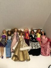 Barbie Lot 8 Dolls Eight Doll Used With Clothing May Smell