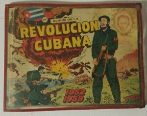 "1960 ""Album De La Revolucion Cubana"" Children Comic Book 268 Cards First Edition"