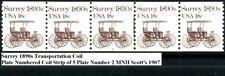 Surrey 1890s Transportation Coil MNH PNC5 Plate 2 Scott's 1907            (l1)