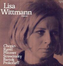 Pfitzner, Bartok, Ravel, Prokofieff tra l'altro, Lisa Wittman-RARE privato pianoforte LP