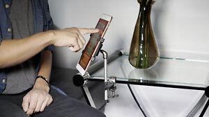 Rockville iPad/iPhone/Smartphone/Tablet Holder Hands-Free Table/Desk Clamp Mount