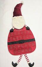 Pottery Barn Kids Christmas Santa Advent Calendar Pouch Door Hanger Monogrammed
