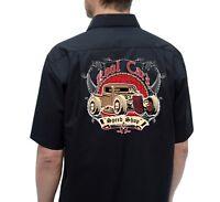 Men's, Rockabilly shirts, Hot Rod, Rock n roll, Tattoo, Flames, Speed shop shirt