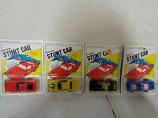 4 1980's Die Cast Stunt Car Pencil Sharpeners