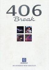 Prospekt Peugeot 406 Break 12 96 1996 Autoprospekt Auto Frankreich PKWs brochure