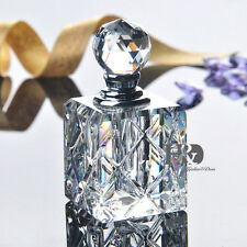 Vintage Crystal Cut Empty Refillable Perfume Bottle Stopper Wedding Decor H22