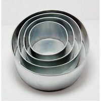 """SET OF 4-PIECE OVAL SHAPE CAKE BAKING PANS BY EURO TINS 6""""-12"""" (3"""" DEEP)"""