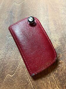 BMW Genuine RED Leather Key Case with BMW Roundel Logo 80232149936