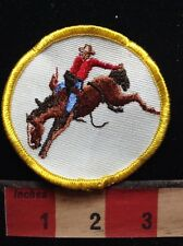 Vtg RODEO COWBOY Patch ~ Riding A Bucking Bronco Horse. 71Y6