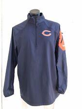 Chicago Bears Nike NFL On Field Apparel Half Zip Dri-Fit Pullover Jacket Size L