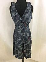 Tommy Hilfiger Women's 100% Cotton Multi-Color V-Neck Sleeveless Dress Size XL